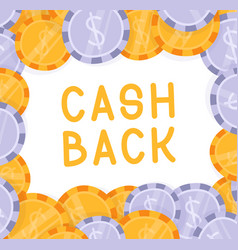 cash back dollar falling explosion flat cartoon vector image