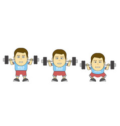 Character in training build your body 2d flat vector