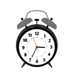 classical black alarm clock vector image