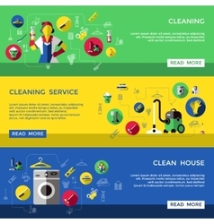 Cleaning Banner Set vector image