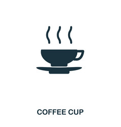 coffee cup icon line style icon design ui vector image