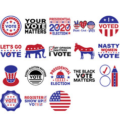 collection election phrases slogans or quotes vector image