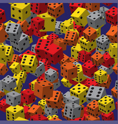 color dice seamless pattern vector image