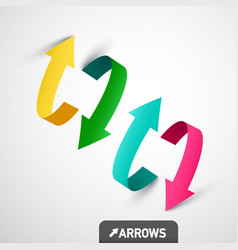 colorful 3d arrows arrow symbol design vector image