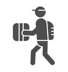 Courier solid icon delivery vector