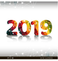 creative happy new year 2019 design card vector image