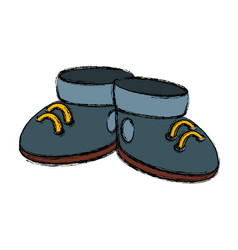 cute boots cartoon vector image