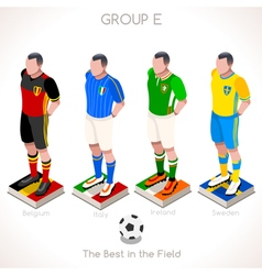 EURO 2016 Championship GROUP E vector image vector image