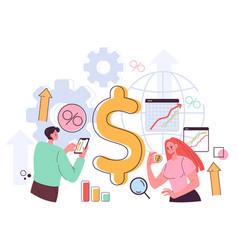 finance market economy term money value vector image