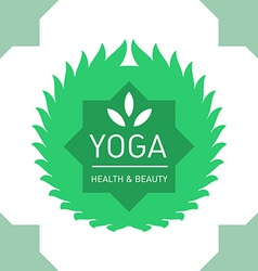 Floral logo template for yoga or fitness class vector image