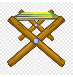 Folding table icon cartoon style vector