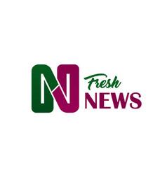 fresh news media letter n icon vector image