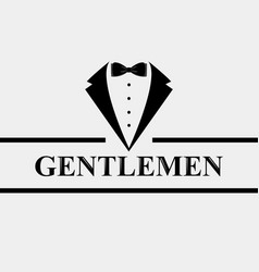 Gentleman icon suit icon isolated on white vector