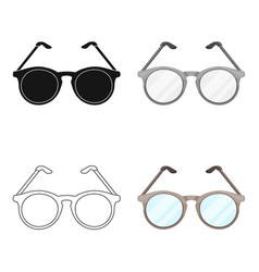Glasses for sightold age single icon in cartoon vector