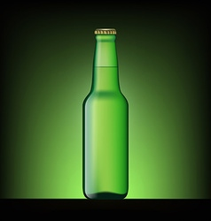 Green bottle of beer vector image
