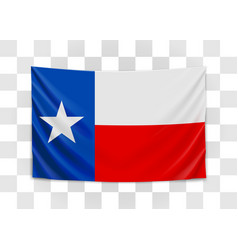 Hanging flag texas state flag concept vector
