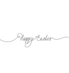 happy easter calligraphic hand lettering vector image
