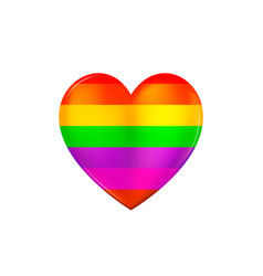 heart icon lgbtq related symbol in rainbow colors vector image