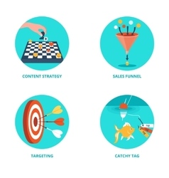 Icons for Internet Marketing vector image