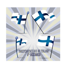 independence day of finland set with national vector image