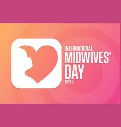 International midwives day may 5 holiday concept vector