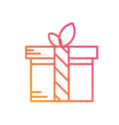 Isolated colorful gradient holiday gift box icon vector
