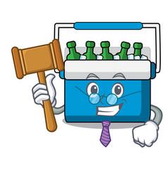 Judge freezer bag mascot cartoon vector