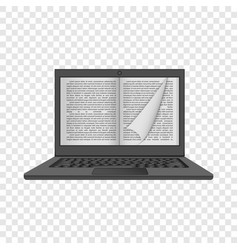 laptop reading mockup realistic style vector image