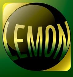 Lemon black text abstract logo vector