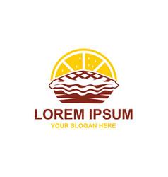 Lemon pie logo vector