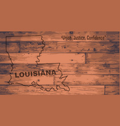 Louisiana map brand vector