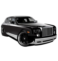 luxurious british car vector image