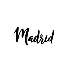 madrid - hand drawn lettering vector image