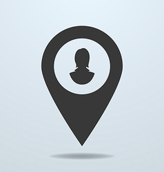 Map pointer with a female symbol vector image