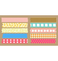 masking tape collection vector image
