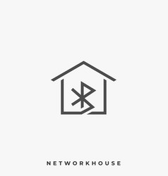 network house template vector image