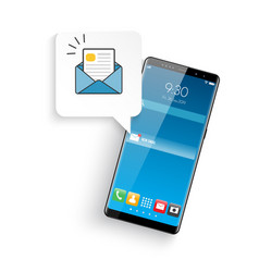 new realistic mobile smartphone modern style vector image