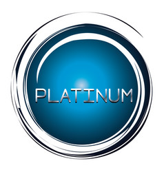 Platinum word on blue button vector