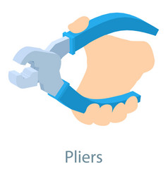 Pliers icon isometric 3d style vector