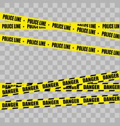 police line set denger vector image