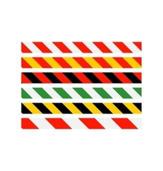 road signs types of multi-colored warning vector image