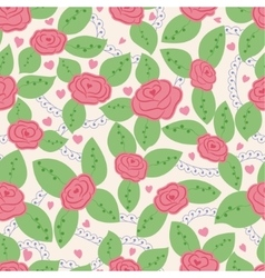Roses vintage seamless pattern vector image