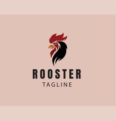 Roster logo animal logo head rooster logo vector