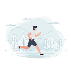 running man park trees vector image