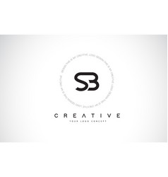 Sb s b logo design with black and white creative vector