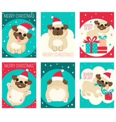 set christmas gift tag card badge sticker vector image