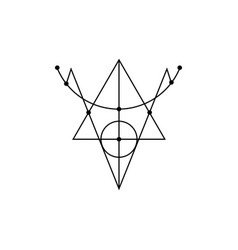 Sigil protection magical amulets isolated vector