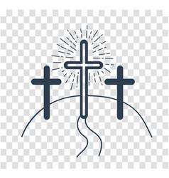 silhouette concept of the crucifixion vector image