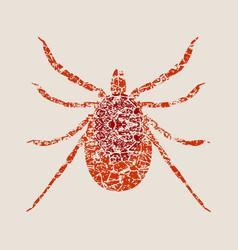 Silhouette tick parasite sketch mite vector