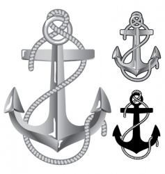 Silver anchor vector